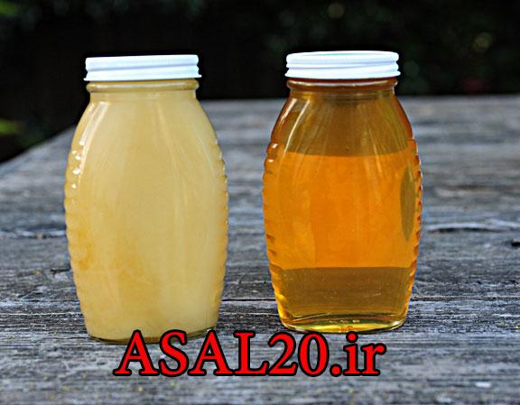 عسل طبیعی کوهستان : عسل طبیعی شکرک می زند