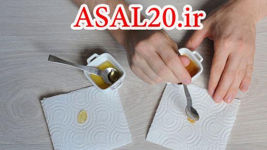 روش تشخیص عسل طبیعی و تقلبی با دستمال کاغذی